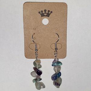 Healing Fluorite Stone Earrings